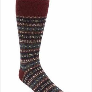 Polo Ralph Lauren Wool Burgundy Socks